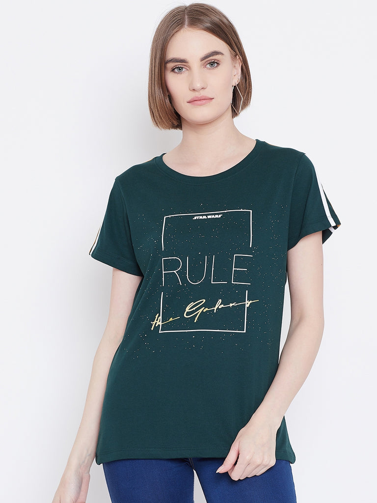 Mettle Apparels mountain green t-shirt for women