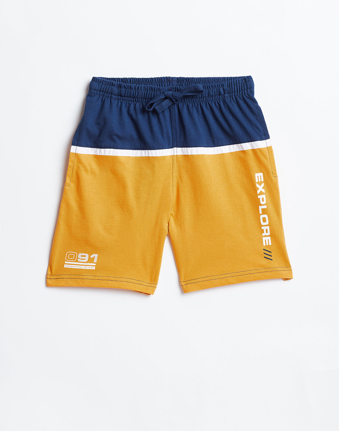 Octave Boys Mustard Yellow Shorts