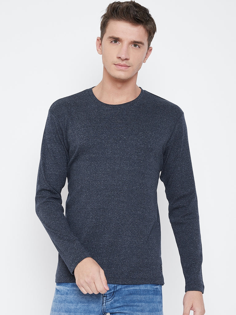 Octave Apparels Navy T-shirt for Men