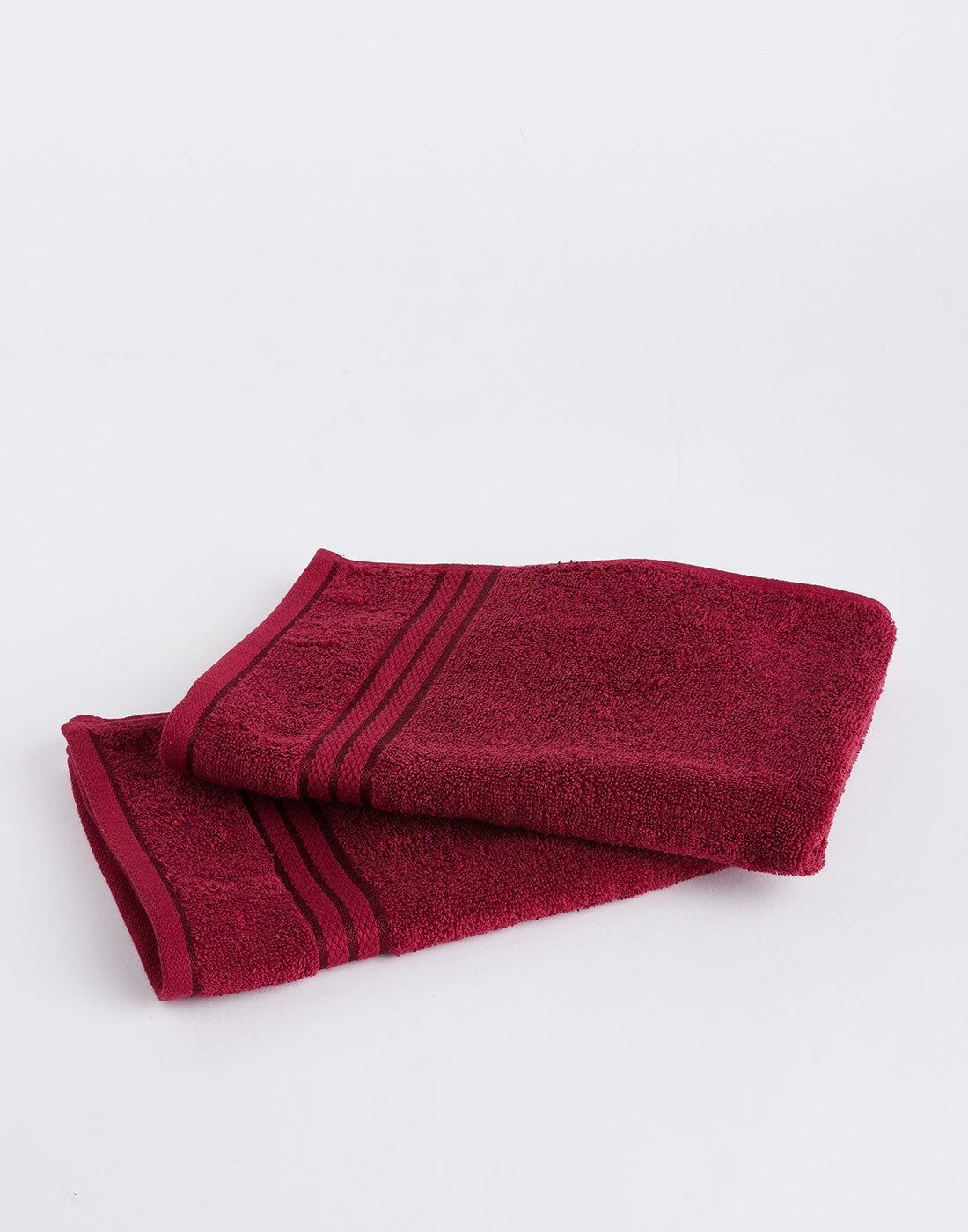 Octave Salsa Red Set of 2 Cotton Hand Towels