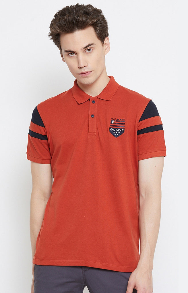 Rust Solid Polo T-Shirt