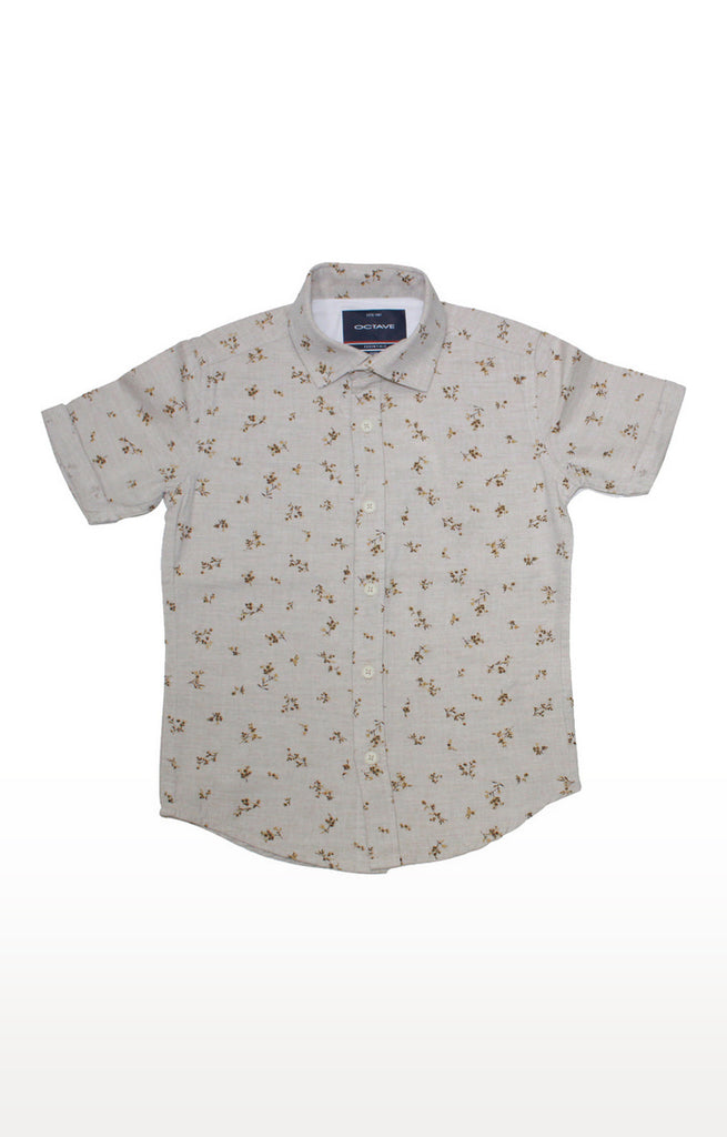 Off White Floral Shirt