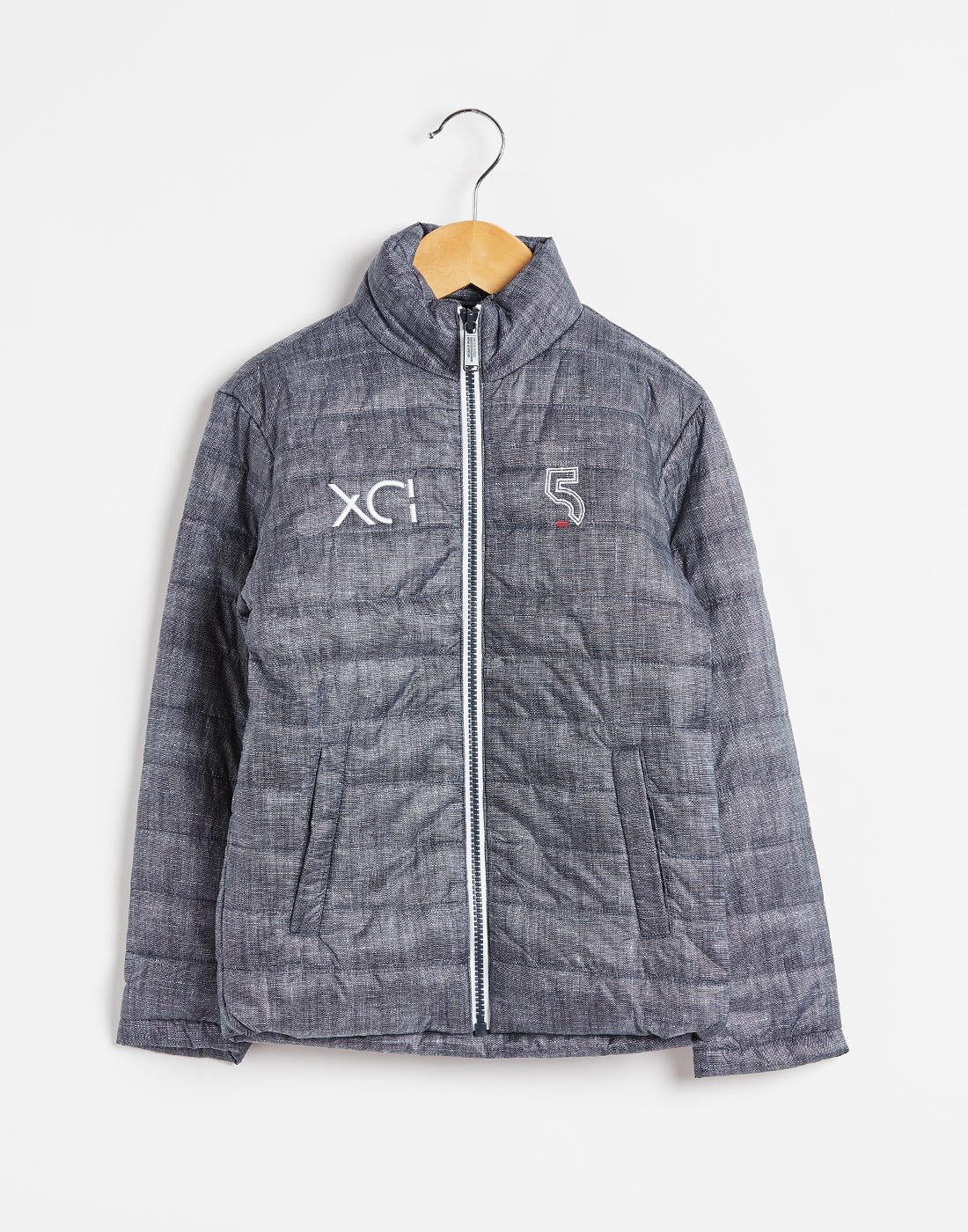 Octave Boys Navy Quilted Jacket