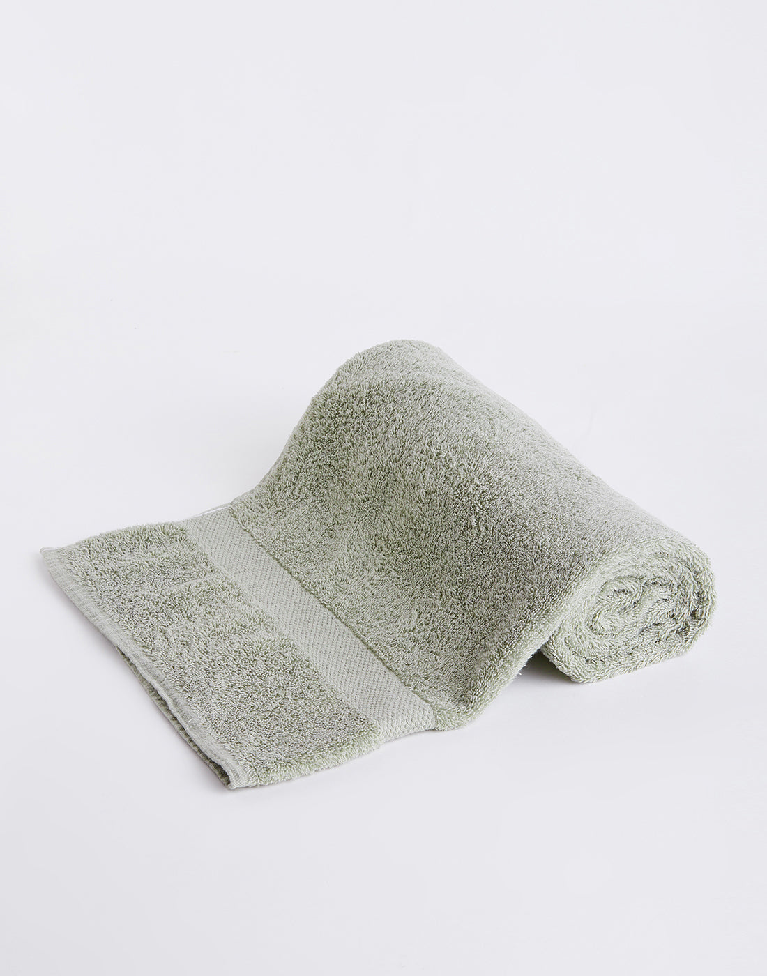 Octave Light Olive Green Cotton Bath Towels