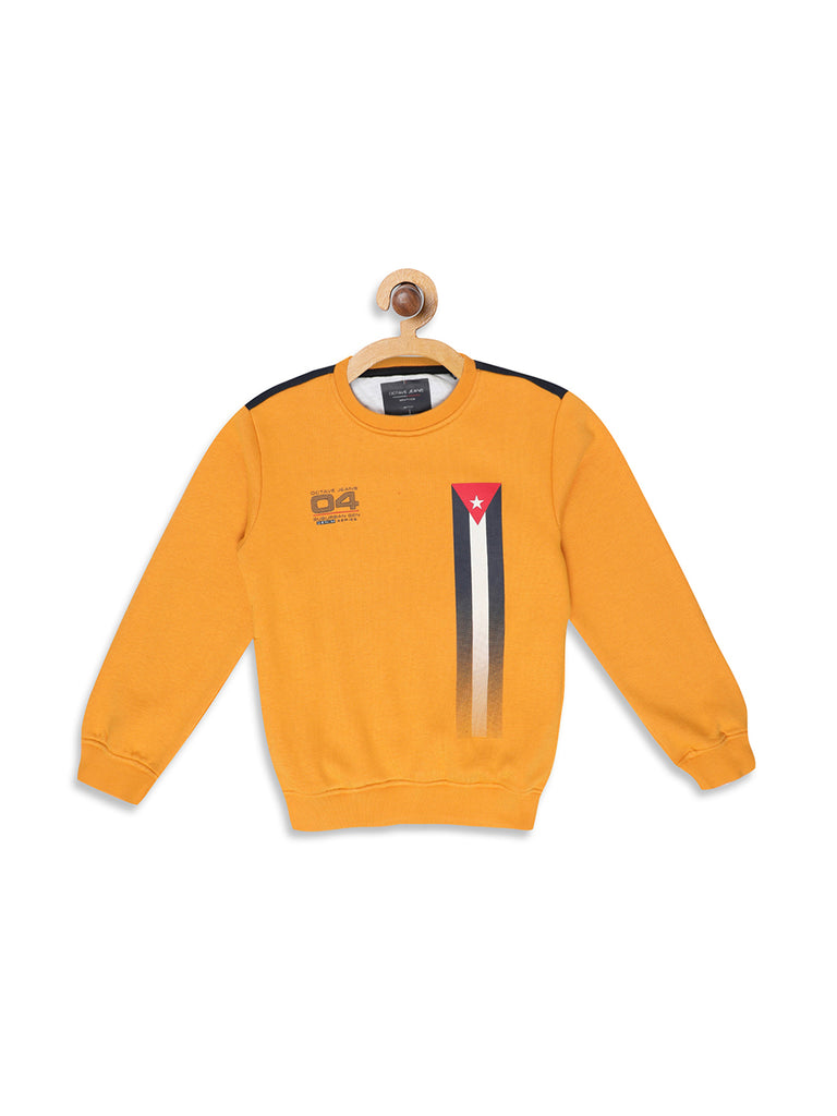 Octave Apparels Yellow Sweatshirt for Kids