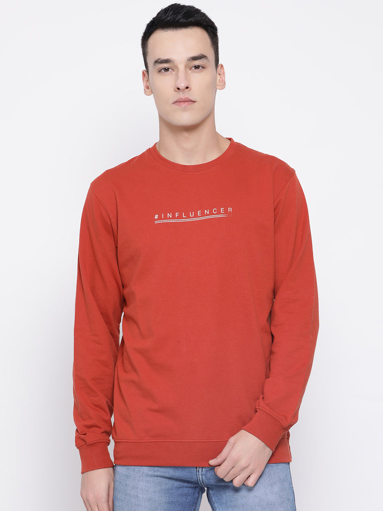 Octave Apparels Rust Sweatshirt for Men