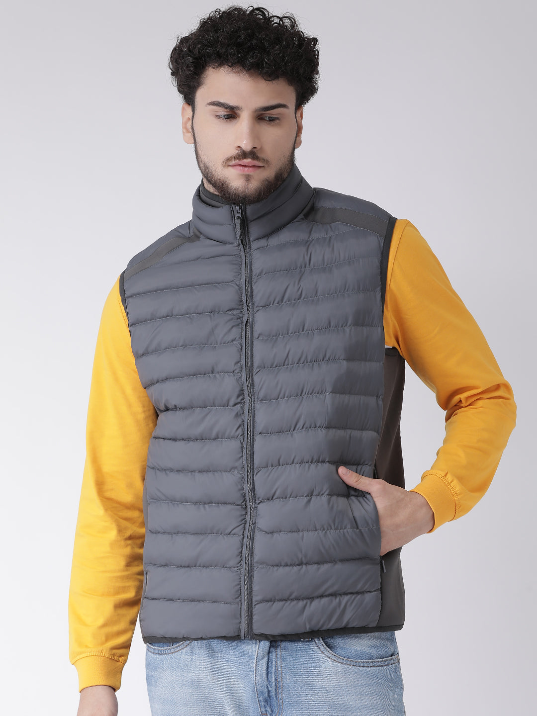 Octave Apparels Charcoal Jacket for Men