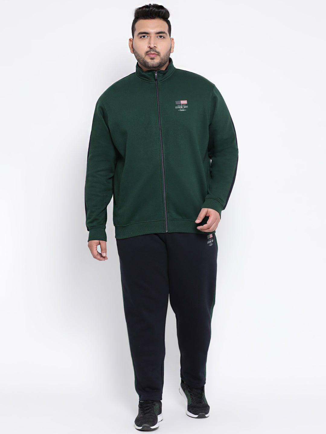 Octave Apparels Green-navy Jogging Suit for Men