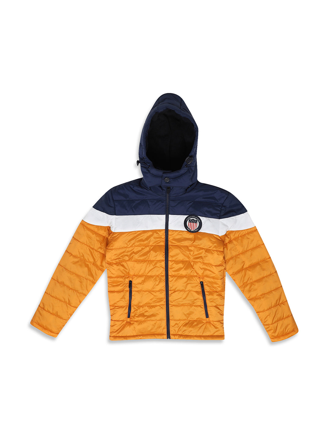 Octave Apparels Yellow-Navy Jacket for Kids