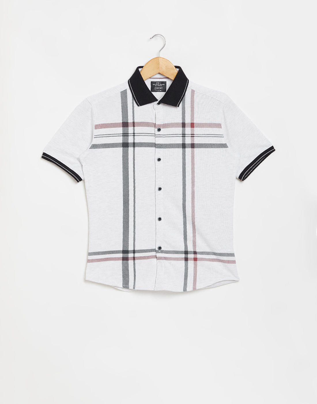 Octave Boys White Melange Printed Casual Shirt