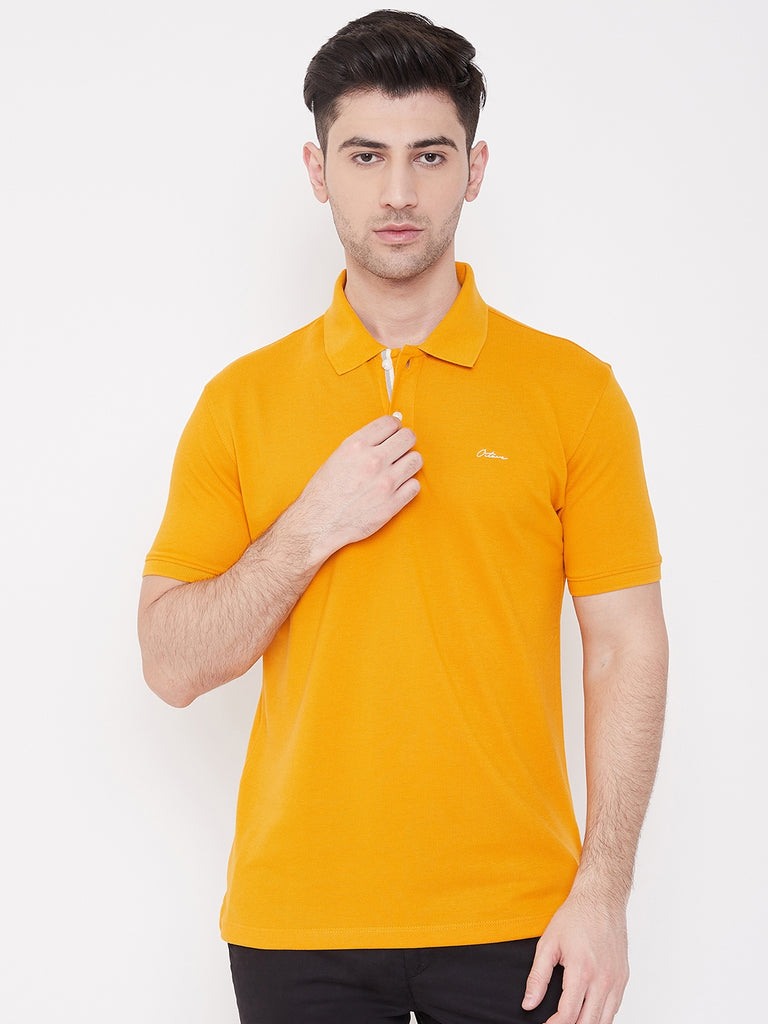 Octave Apparels Mustard colored tshirt for Men