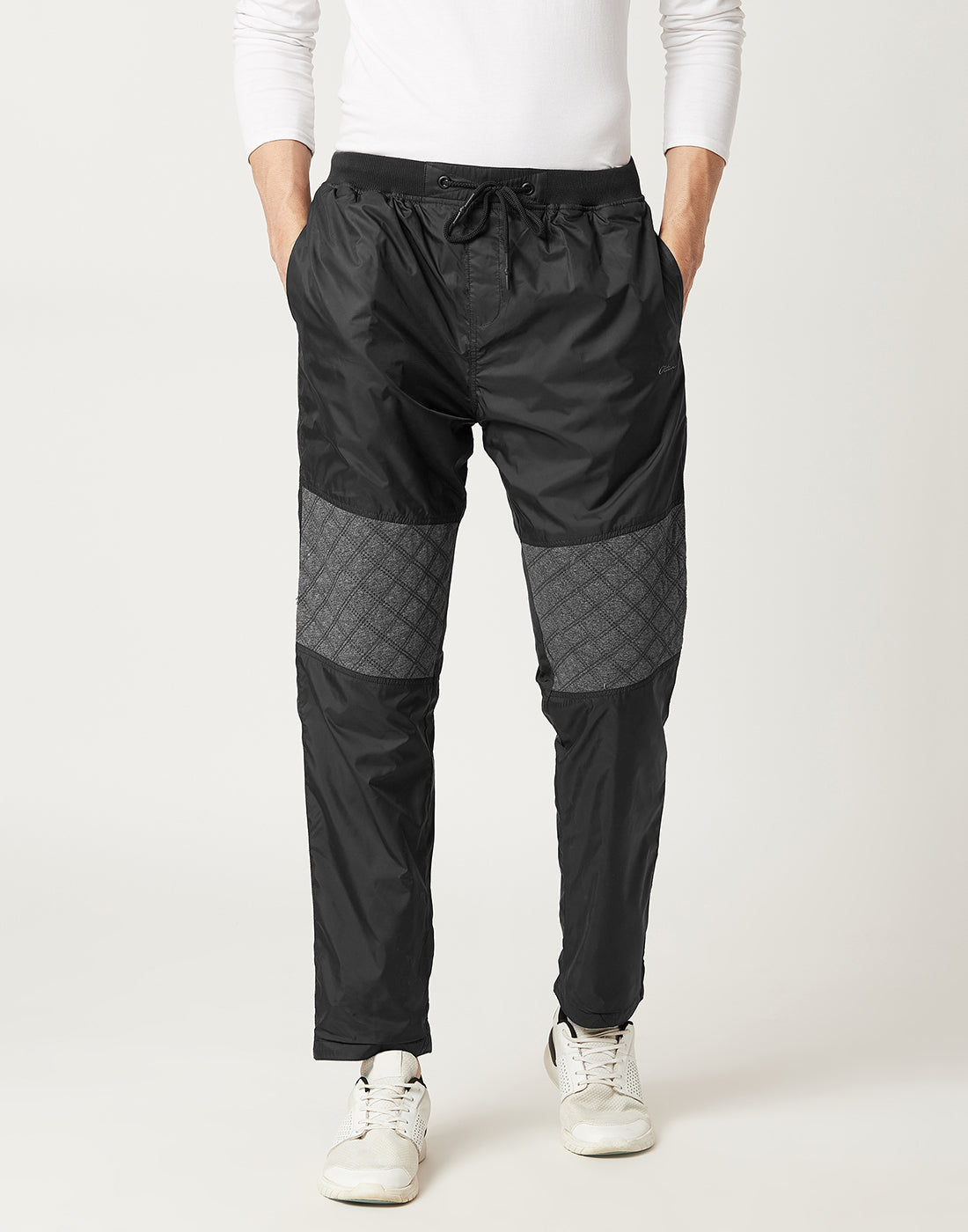 Octave Men Black & Grey Reversible Trackpants