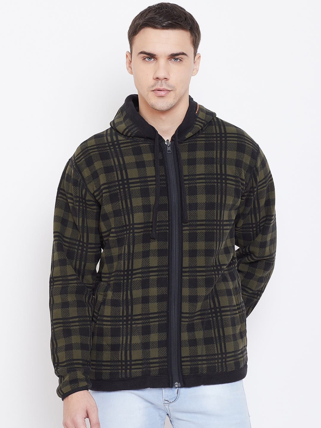 Octave Apparels Olive green jacket for Men