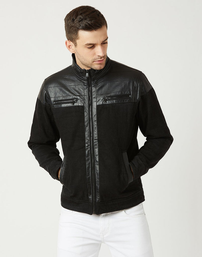 Mettle Men Black Suede Jacket