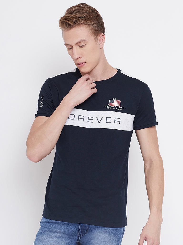 Octave navy blue colour t-shirt for men
