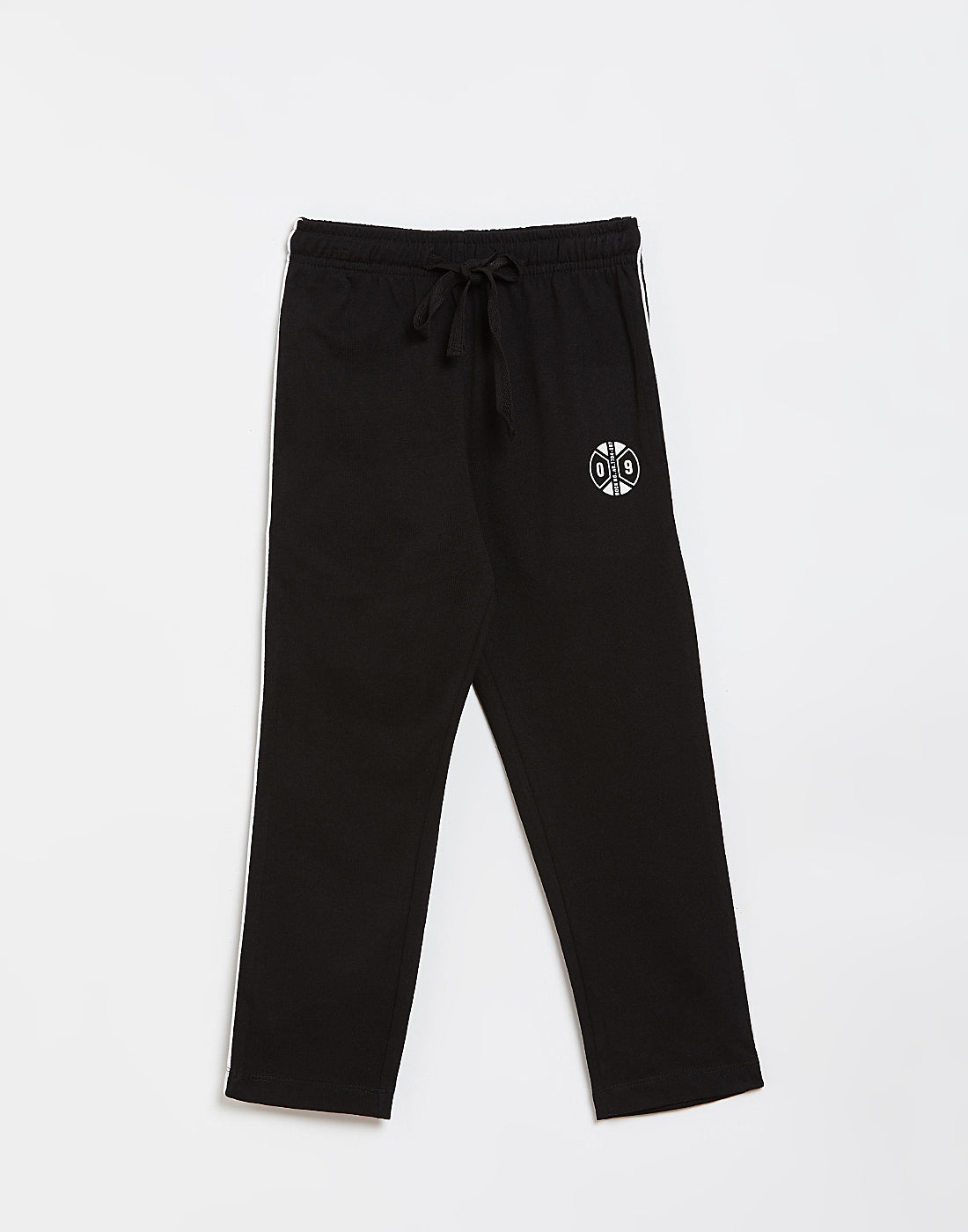 Octave Boys Black Printed Trackpants