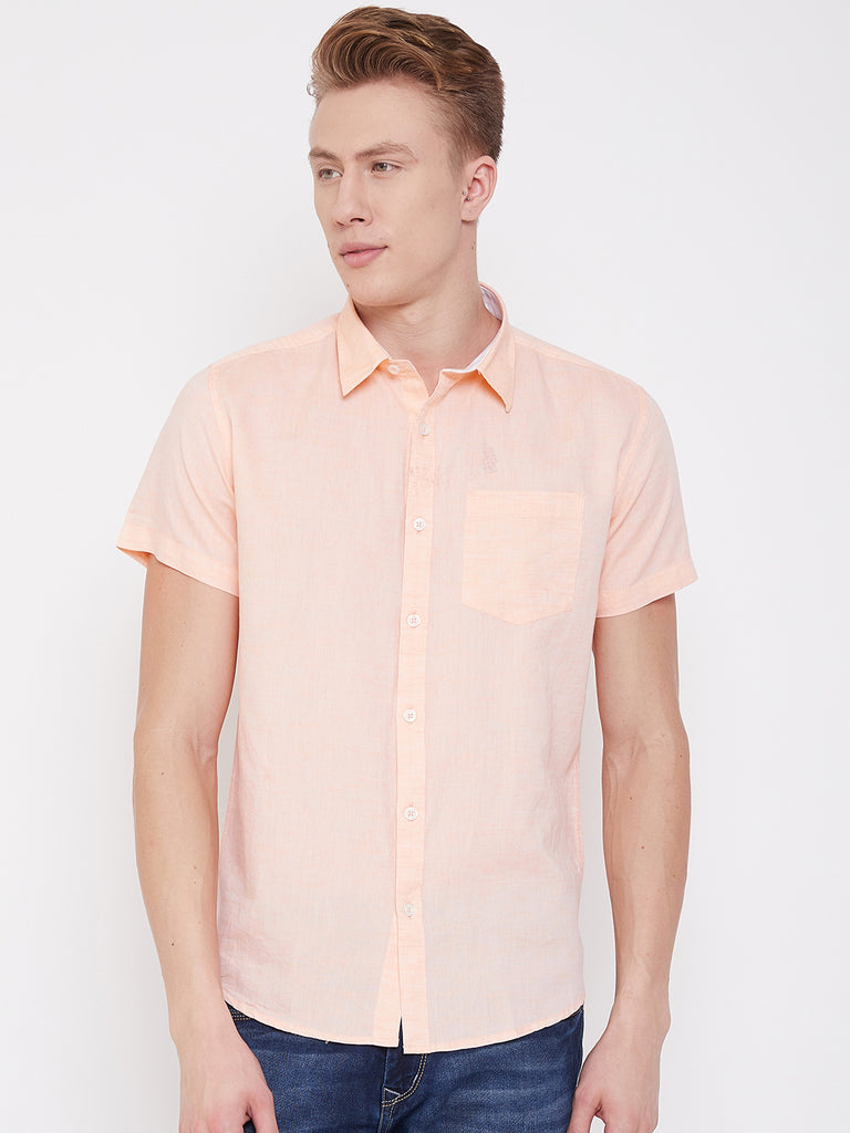 Octave Apparels Peach Shirt for Men
