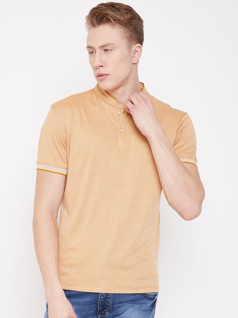 Octave Apparels Dusty Mustard T-Shirt for Men