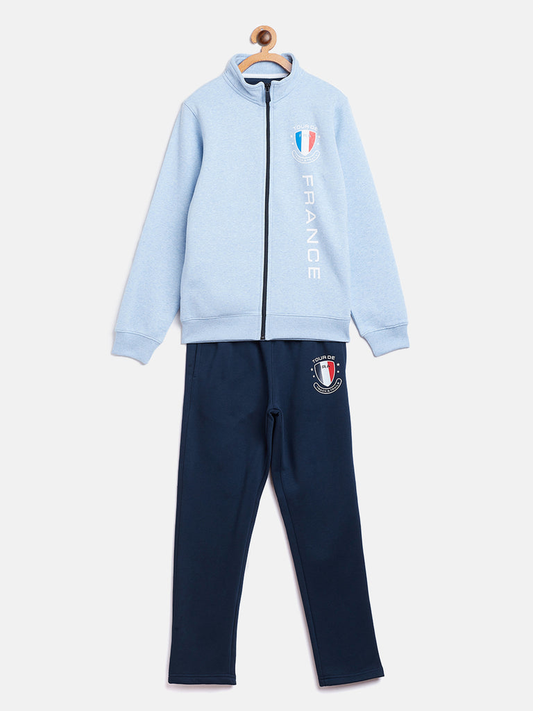 Octave Apparels sky mélange jogging suit for kids