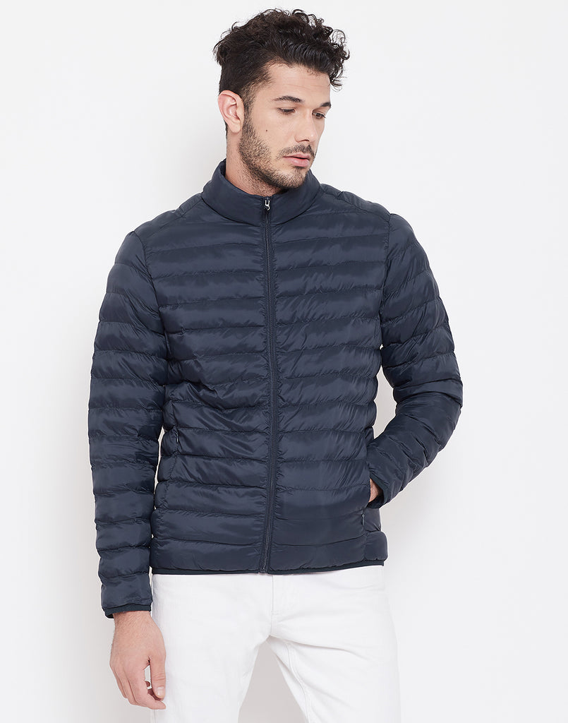 Mettle Navy Blue Jacket for Men