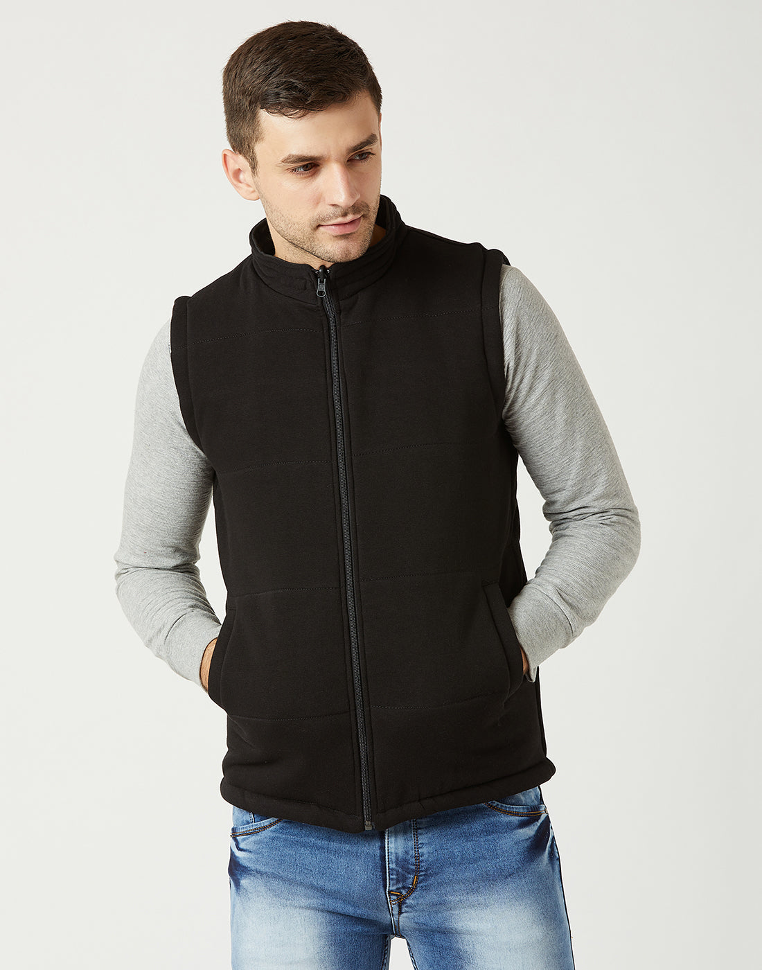 Octave Men Black Reversible Jacket