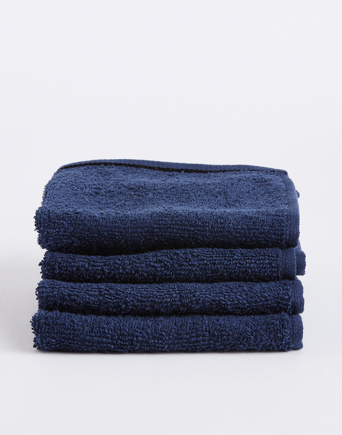 Octave Navy Set of 4 Cotton Face Towels