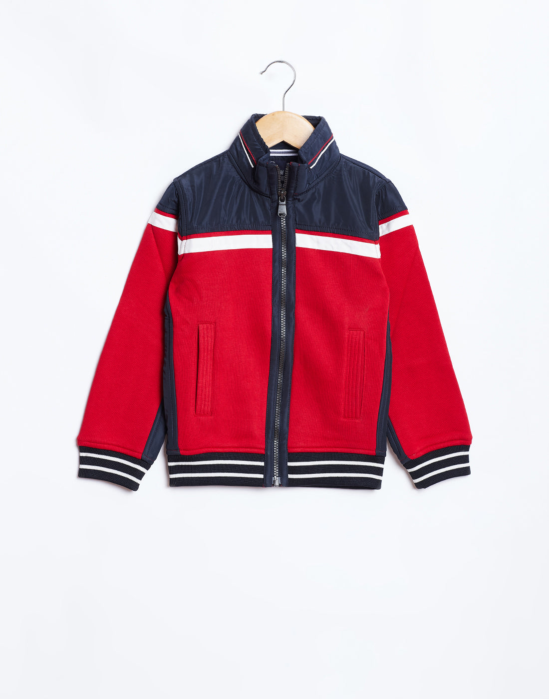 Octave Boys Brick Red & Navy Jacket