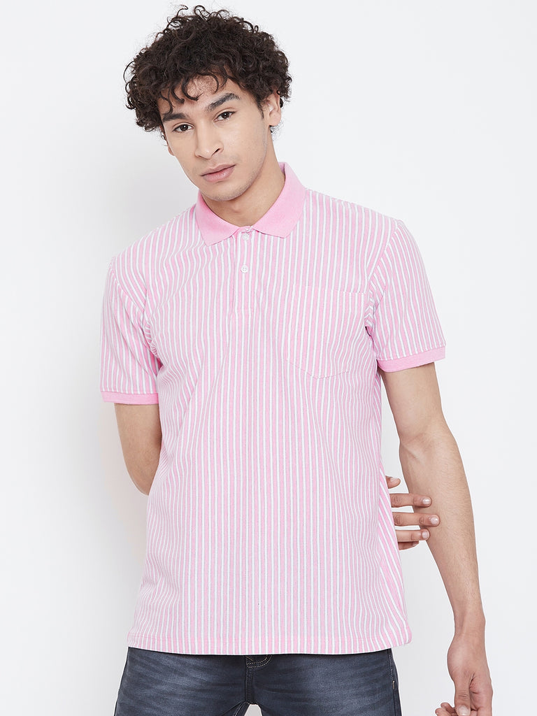 Octave Apparels Light PINK colour T-shirt for Men