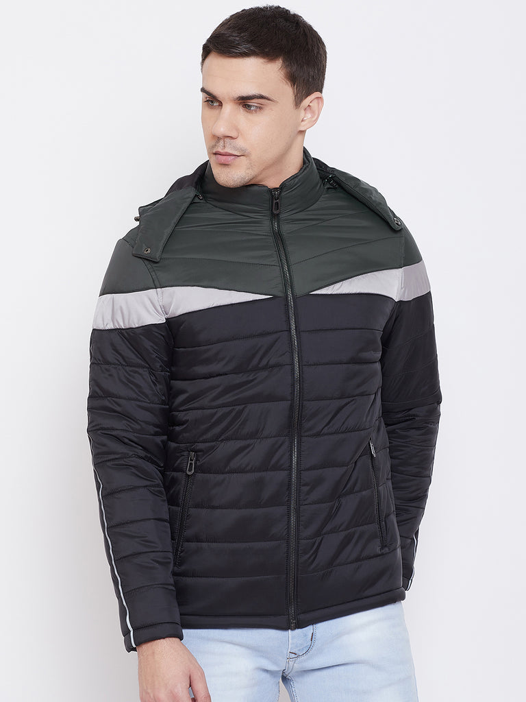 Mettle Apparels Black and Grey jacket for Men