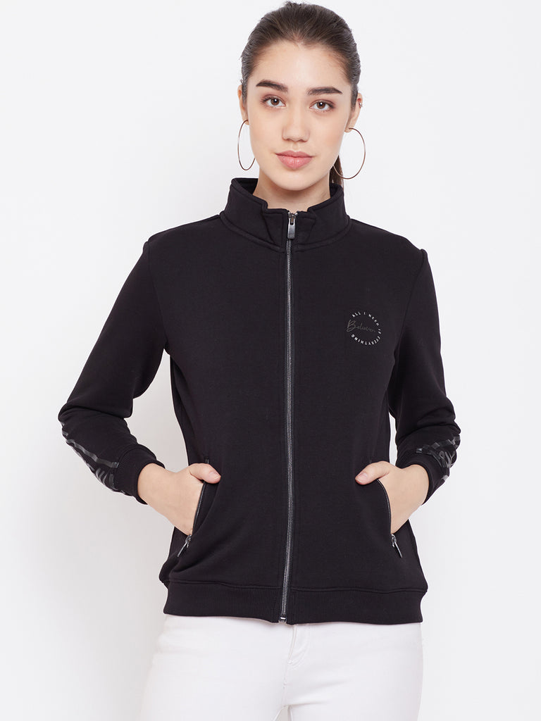 Black colour winter sweat shirt from Mettle apparels