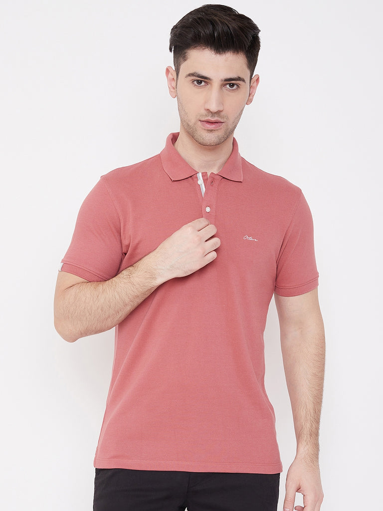 Octave Apparels Spiced coral T-shirt for Men