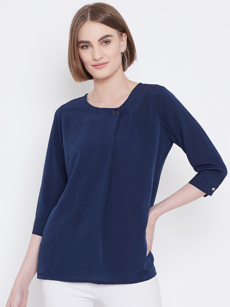 Mettle Apparels Navy colored T-shirt for Women