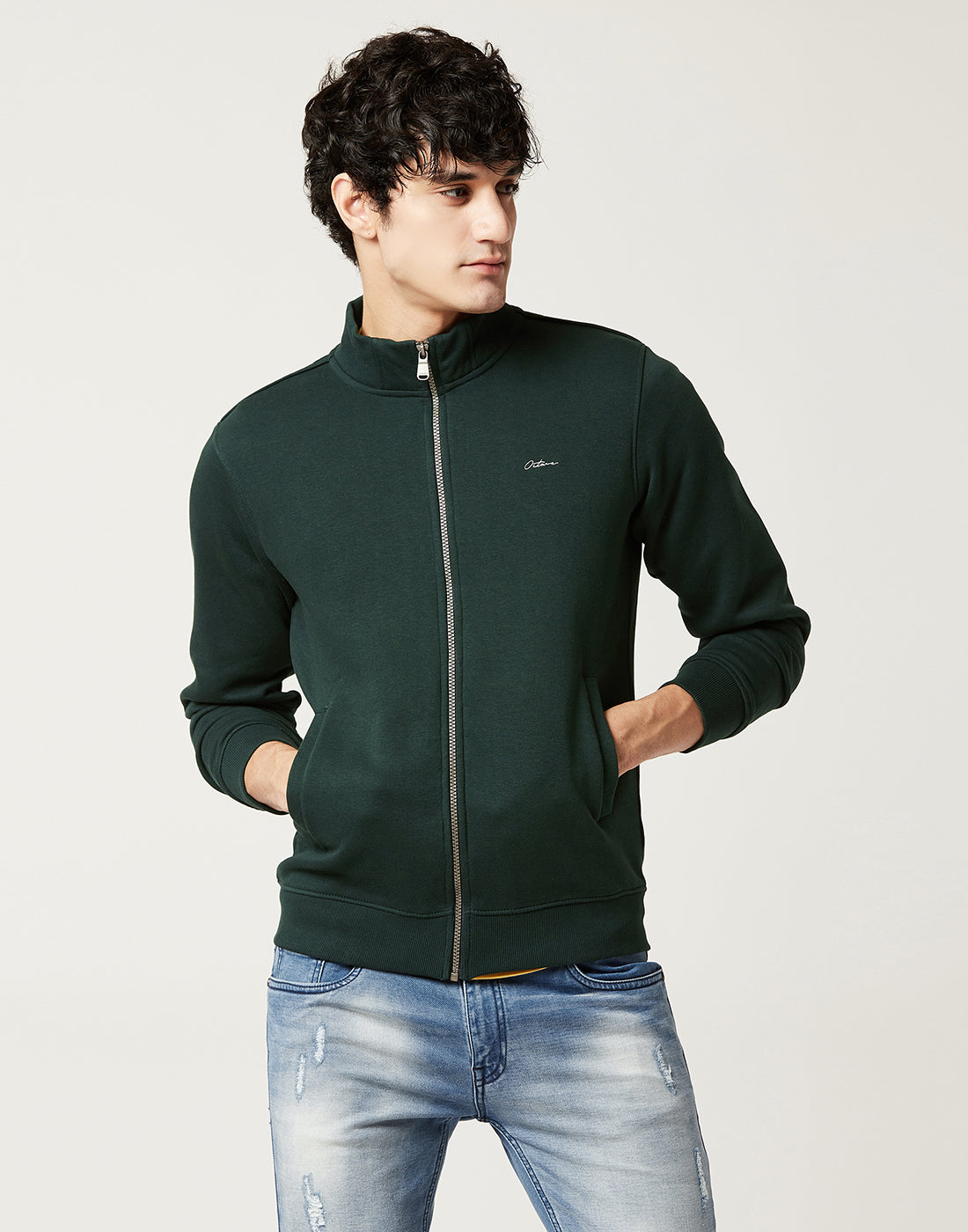 Octave Men Green Sweatshirt