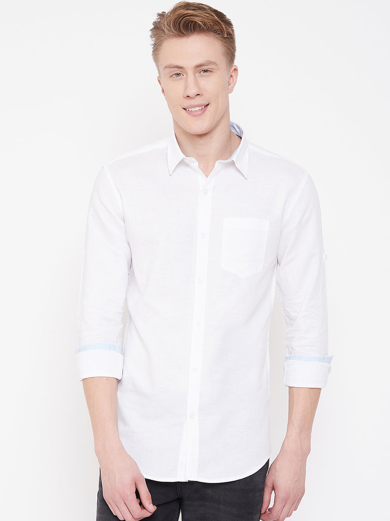 Octave Apparels White Shirt for Men