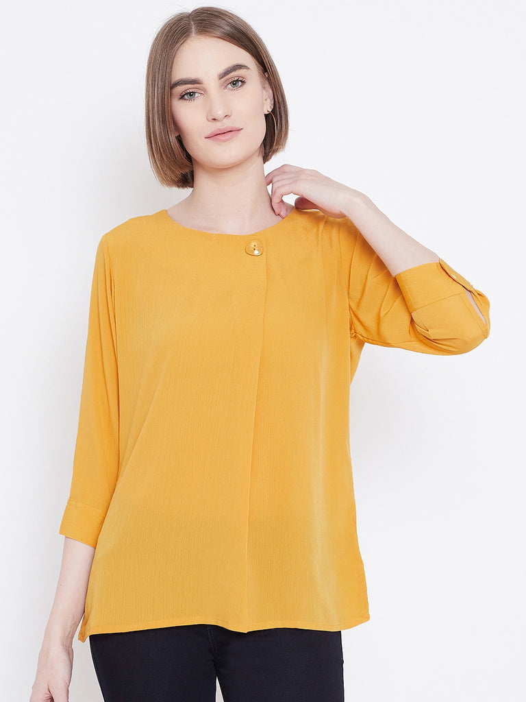 Mettle Apparels Mustard colored T-shirt for Women