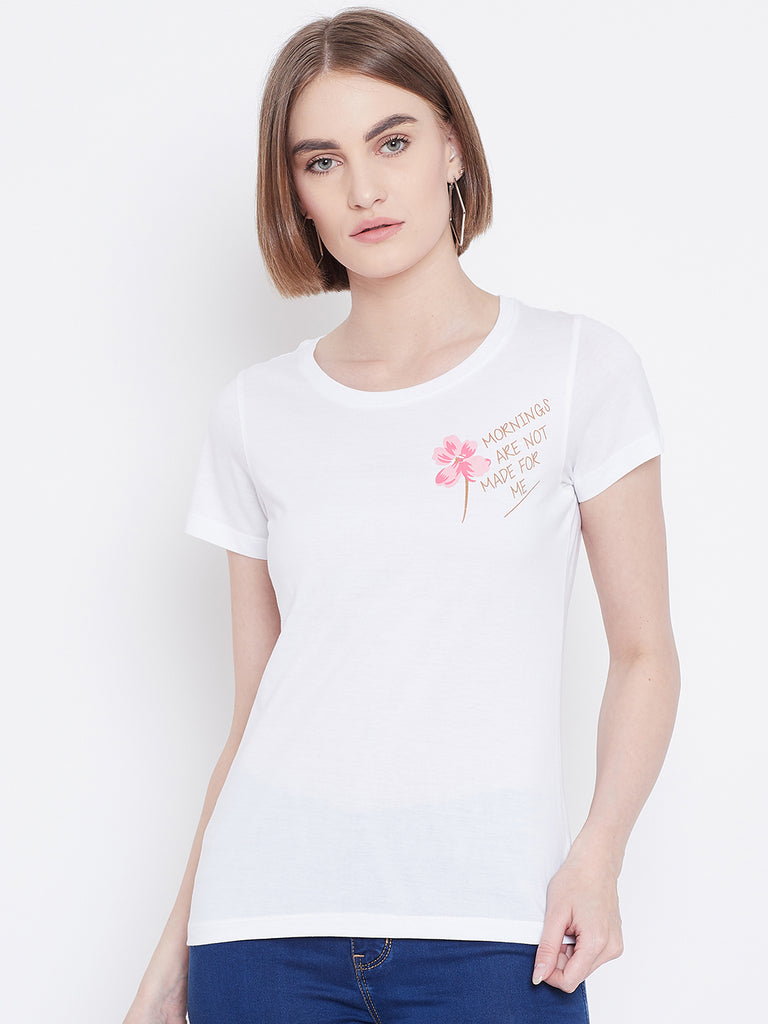 Mettle Apparels white T-shirt for women