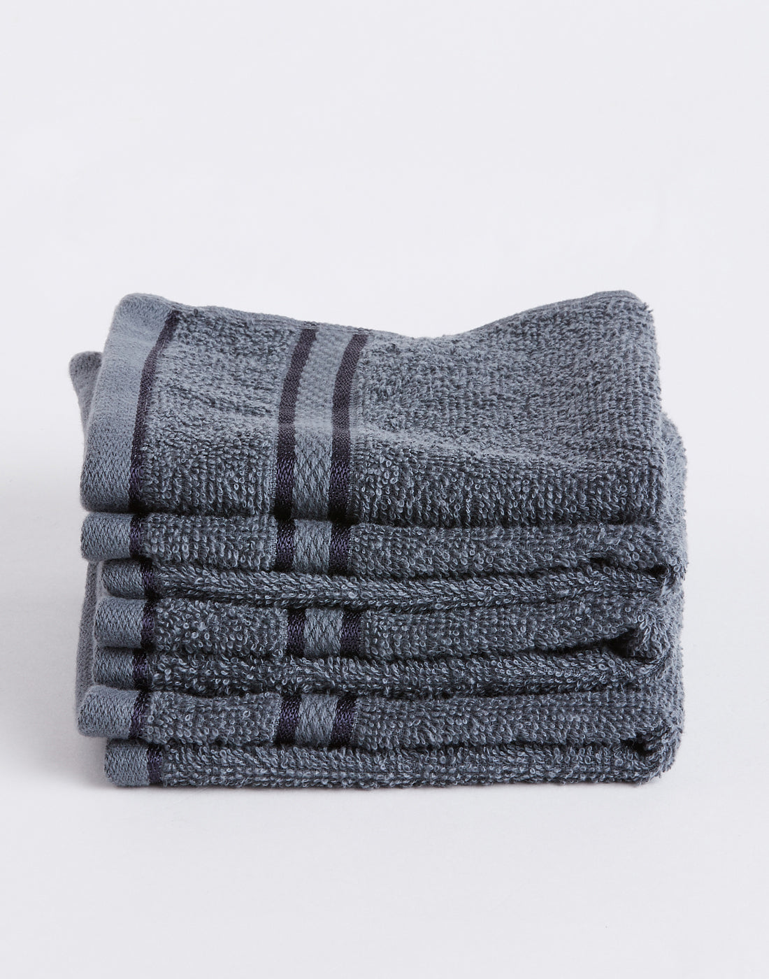 Octave Charcoal Grey Set of 4 Cotton Face Towels