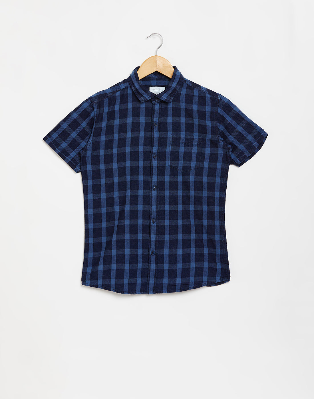 Octave Boys Denim Checked Casual Shirt