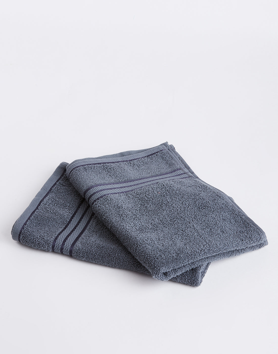 Octave Charcoal Grey Set of 2 Cotton Hand Towels