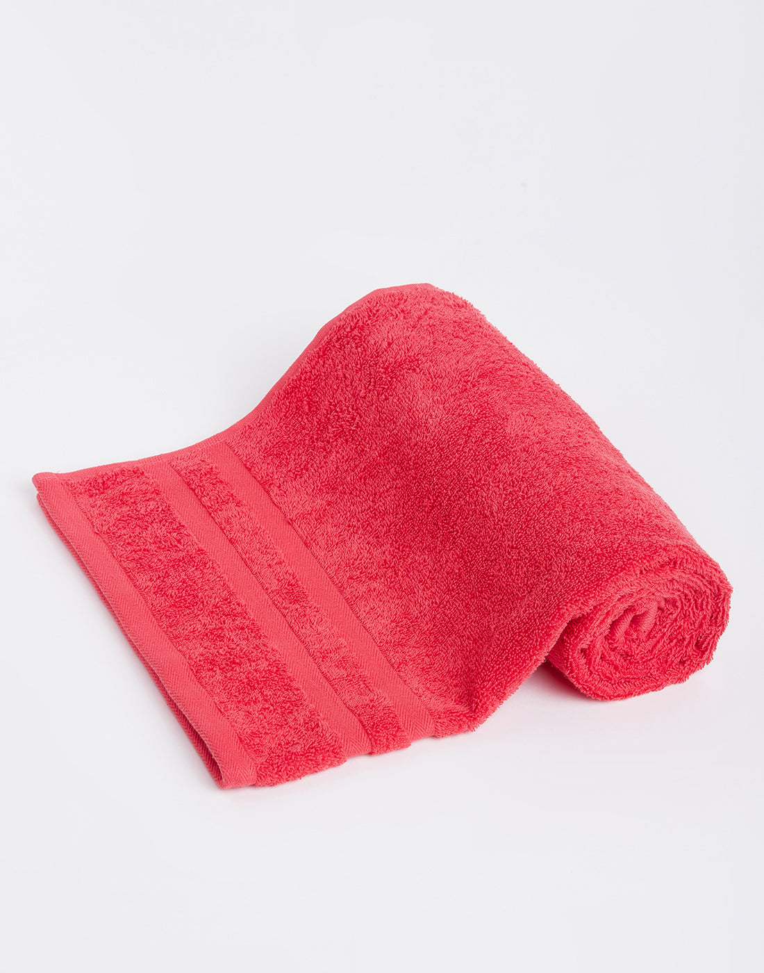 Octave Miami Red Cotton Bath Towels