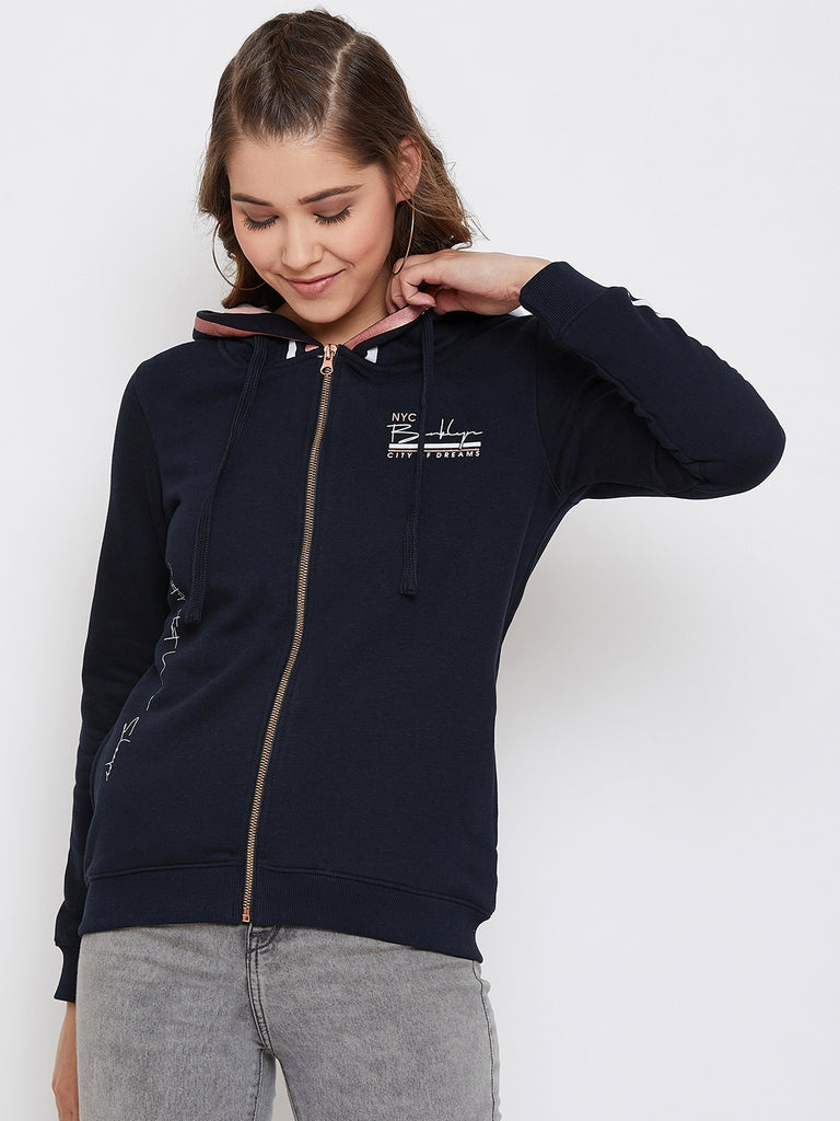 Octave Apparels Navy Hoodie for Women