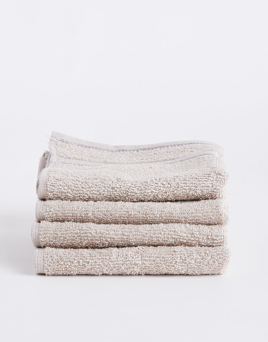 Octave Beige Set of 4 Cotton Face Towels