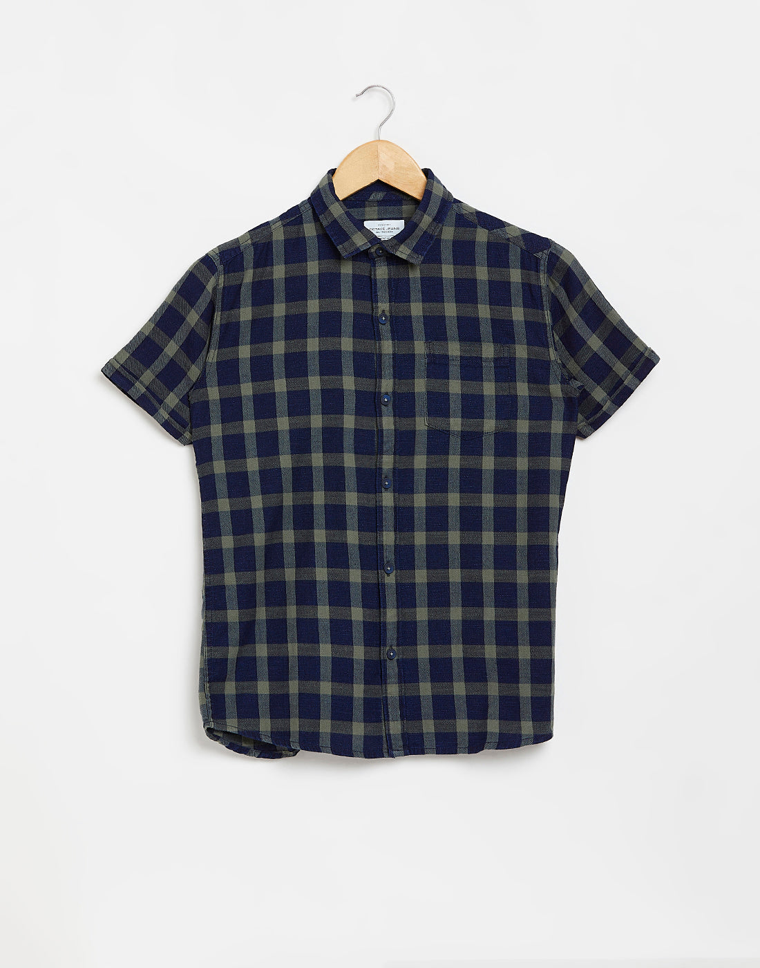 Octave Boys Olive Green Checked Casual Shirt