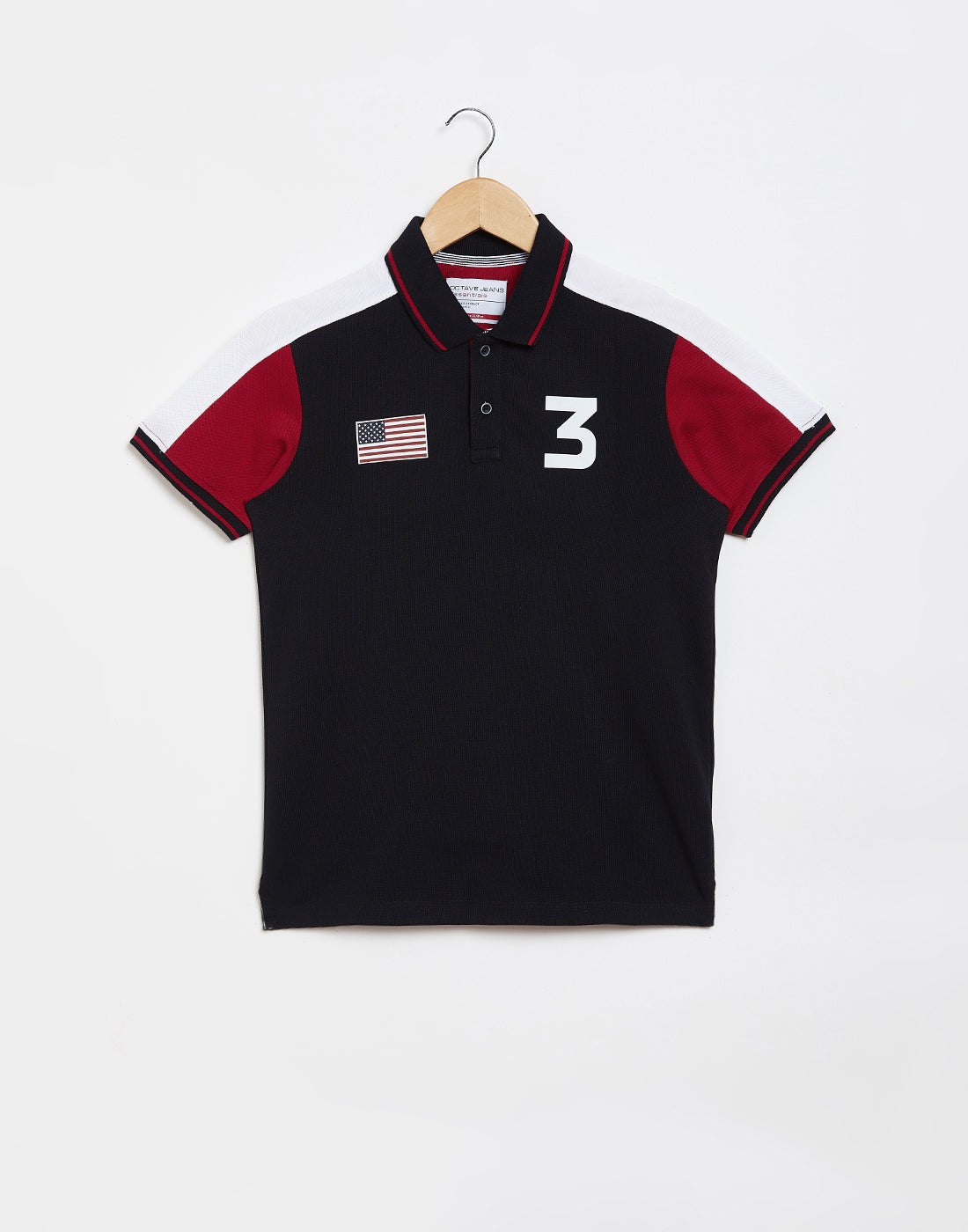 Octave Boys Navy Printed Polo Tshirt