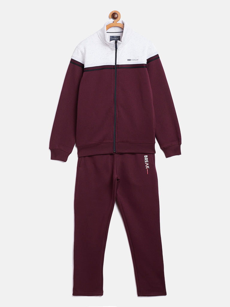 Octave Apparels wine jogging suit for kids