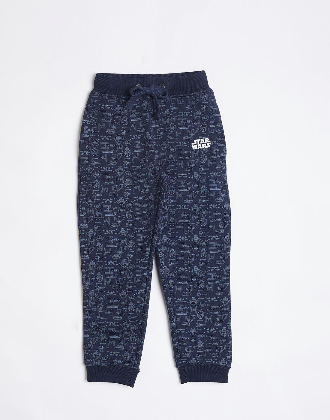 Octave Boys Navy Printed Track pants