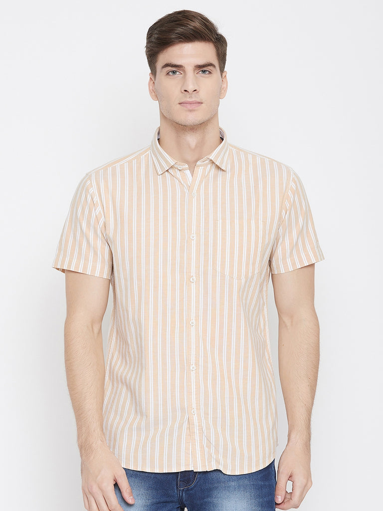 Octave Apparels natural color shirt for men