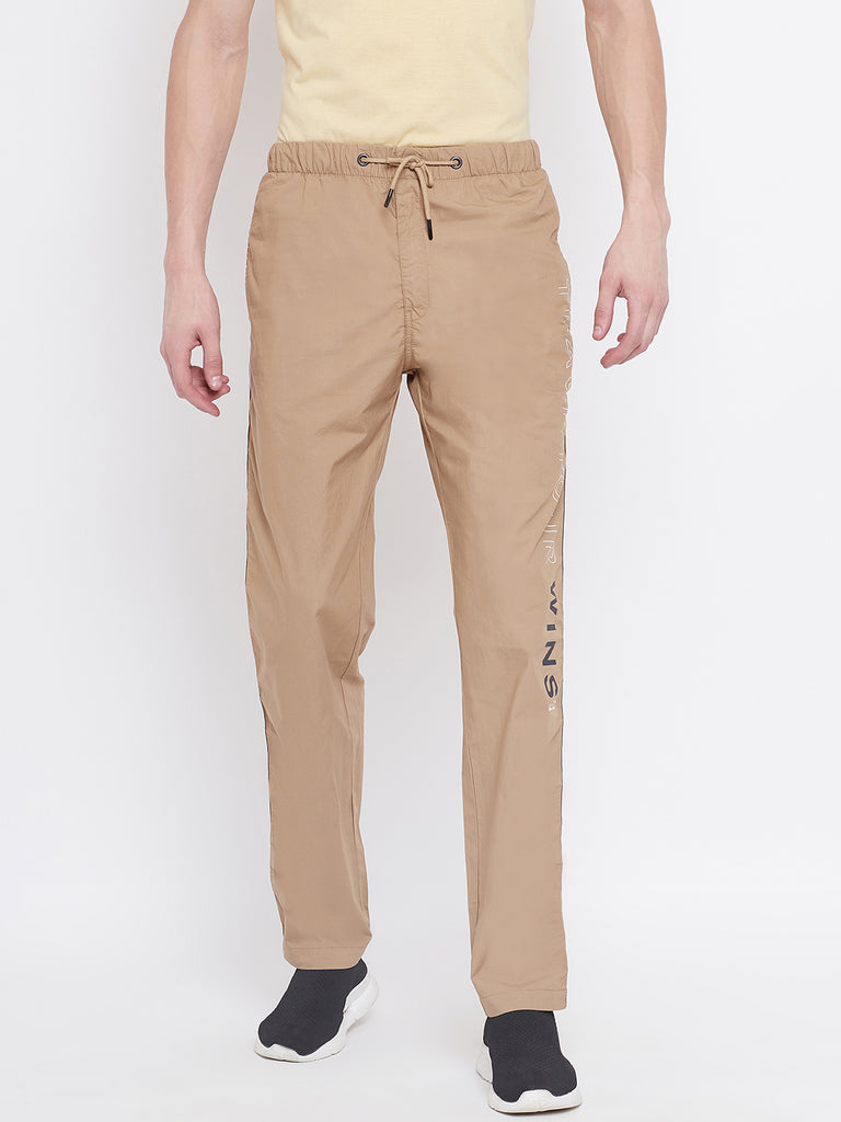 Octave apparels khaki colored track pant for men