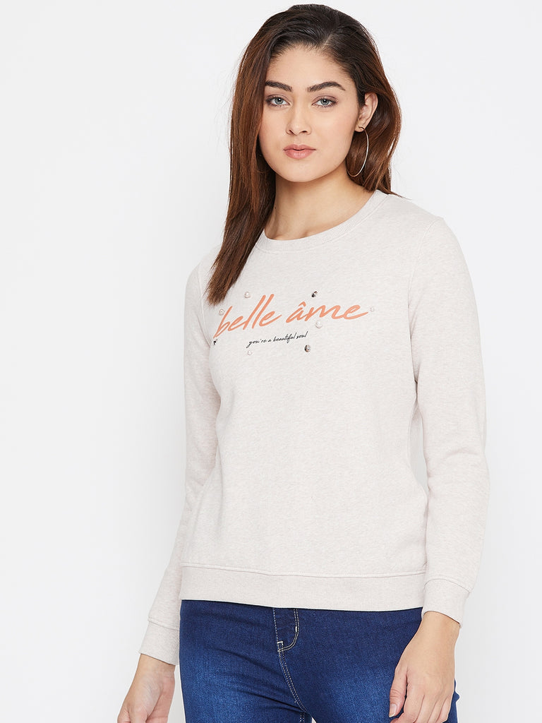Octave Apparels Natural Pullover for Women