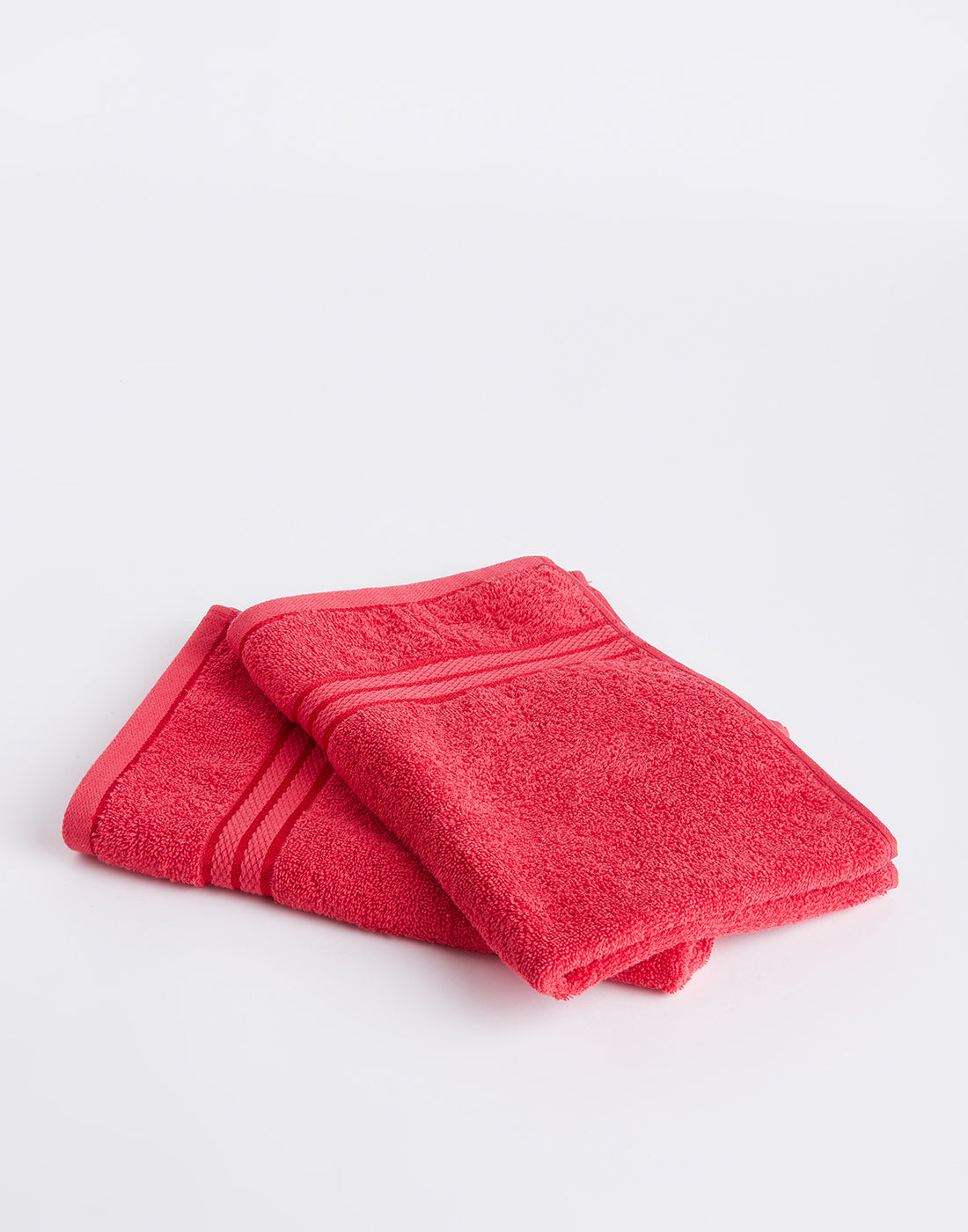Octave Miami Red Set of 2 Cotton Hand Towels
